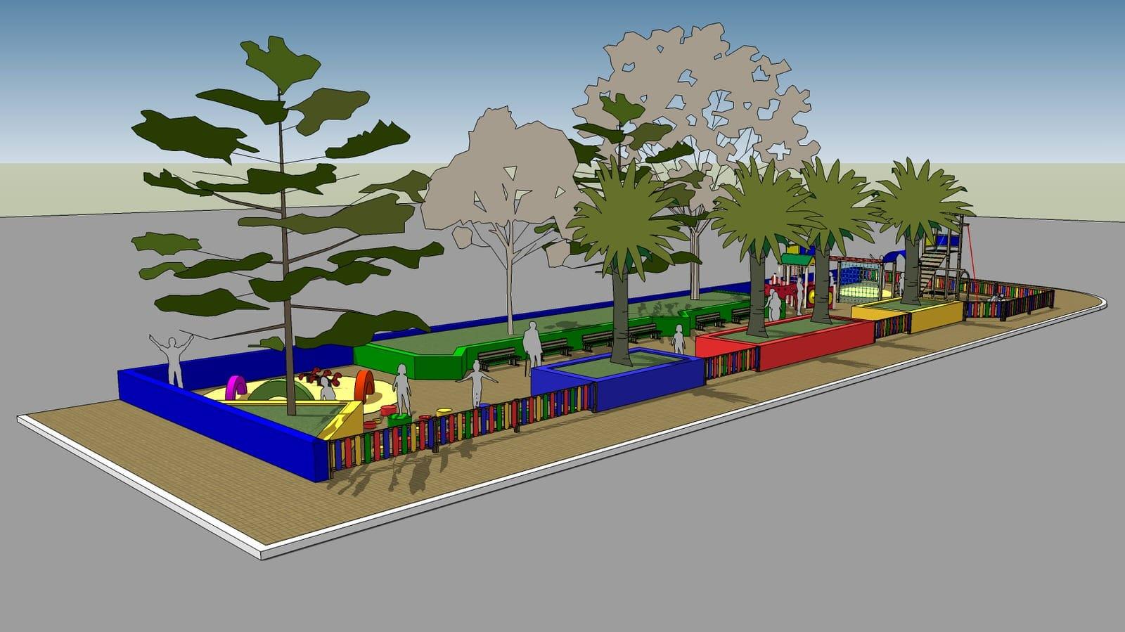Grafica, Modellazione3D Aspra parco giochi